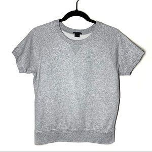 Theory Gray Short Sleeve Pullover Sweater Tee